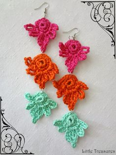 Little Treasures: #Crochet Earrings