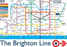 Sean Sims image of Brighton based on the London tube map, from his own site; http://seansimsillustration.blogspot.co.uk/2010/09/brighton-line-update.html
