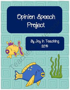Opinion Speech Project: Classwork/Homework from Joy in Teaching on TeachersNotebook.com -  (10 pages)  - This packet includes student pages for preparing a speech which shares their opinion with the class.