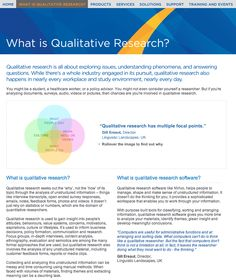 What is Qualitative Research? (from www.qsrinternational.com/what-is-qualitative-research.aspx) Nursing Research, Clinical Research, Research Methods, Dissertation Writing, Academic Writing, Report Writing, English Writing, Social Science Research, Writing A Research Proposal
