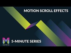 Motion Scroll Effects in Adobe Muse | 5 Minute Series | Adobe Muse CC | Muse For…