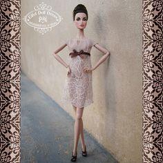 "Handmade dress for FR, Barbie and 12"" dolls by EFDD"
