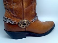 Boot Bracelet made from vintage brassy piece by McIversRevivers, $22.00
