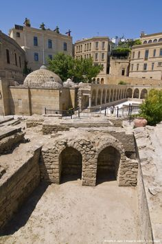 Excavations near the Maiden Tower, Baku, Azerbaijan, Asia