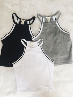 Nathalie Sport Crop Tank (Gray, White, Black)