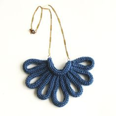A Alicia hand-knitted necklace