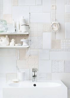 very carefully selected and applied tiles for the wall
