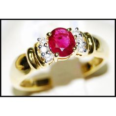 http://rubies.work/0407-sapphire-ring/ Jewelry Ruby 18K Yellow Gold Solitaire Diamond Ring by BKGjewels