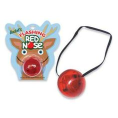 #Rudolph The Red Nose Reindeer Blinking Flashing Light Up Nose #Christmas