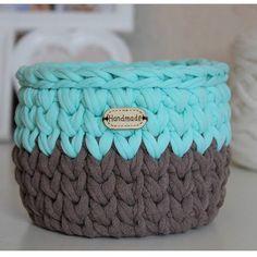 Корзинка от @cotton_decor_ поднимает настроение спасибо за работу #пряжалиана #lianaknit Crochet Bowl, Diy Crochet, Crochet Quilt Pattern, Crochet Patterns, Cotton Decor, Fabric Yarn, T Shirt Yarn, Yarn Crafts, Baby Knitting
