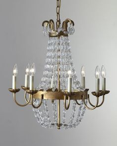 H6ECU Visual Comfort Paris Flea Market Small 8-Light Chandelier