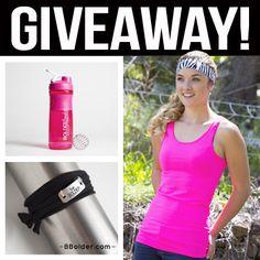 --- WIN! ---<br>- Zebra Tank & Headband Set <br>  - Pink Bolder Band Blender Bottle<br>  - Wrap Bracelet<br>  Retail Value of $78    ($78 Value!)