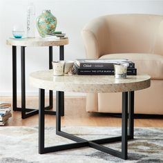 Mother Of Pearl Round Coffee Table