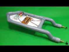 In this video, i am using PVC Pipe, 180 Motor, and i will make a Mini RC Boat at home, Hope you guys will enjoy this ! Boat Crafts, Water Crafts, Remote Control Boat, Radio Control, Wooden Boat Plans, Wooden Boats, Wooden Kayak, Pvc Projects, Science Projects