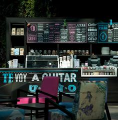 Cielito Querido Cafe is a chain of Mexican coffee created by the studio + Asoc Cadena and various interior Esrawe by the studio Coffee Shop Interior Design, Coffee Shop Design, Cafe Design, Sign Design, Restaurant Bar, Restaurant Design, Restaurant Branding, Menue Design, My Coffee Shop