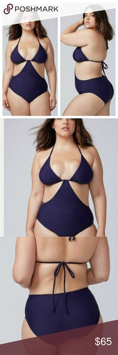 13972a3ca Lane Bryant Triangle Cup String Monokini- NWT- 20 A monokini is the perfect  way to show a little skin without going full-on bikini. Wire-free triangle  cups ...