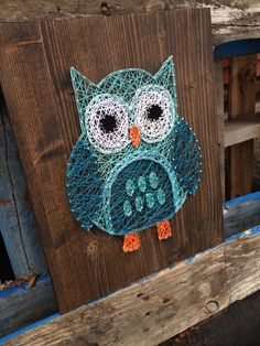 MADE TO ORDER String Art Owl Sign by TheHonakerHomeMaker on Etsy