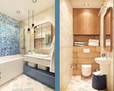 bathroom-blue-tile-mural-wood-shelving