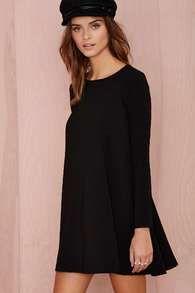 Black Long Sleeve Keyhole Back Dress - Sheinside.com
