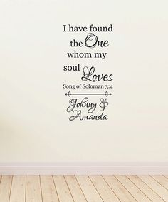 This 'I Have Found the One' Personalized Wall Decal is perfect! #zulilyfinds