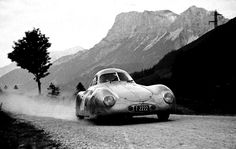 1950 Austrian Alpine Rally: the Porsche 64 prototype finished equal 4th for Otto Mathe