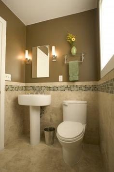contemporary bathroom by Julie Williams Design--powder bath