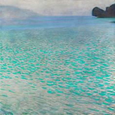 """Attersee (Lake Attersee)"" by Gustav Klimt"