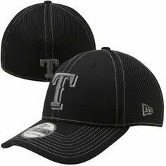 Texas Rangers 39THIRTY New Era Black Fit Hat