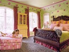 Fun bedroom paint ideas for teenage girls with nice wall