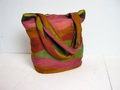 Vintage hand woven colorful shoulder purse by dirtybirdiesvintage, $36.00
