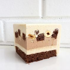 Image may contain: food Pastry Recipes, Cake Recipes, Inside Cake, Modern Cakes, Cocktail Desserts, Square Cakes, Fashion Cakes, Just Cakes, Mousse Cake