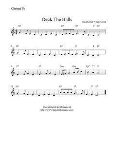 christmas clarinet sheet music free - Google Search
