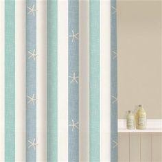 Aqualona Coastal Stripe Shower Curtain