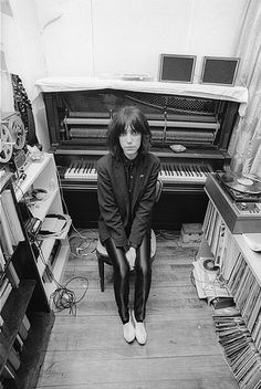 Patti Smith in her music room.