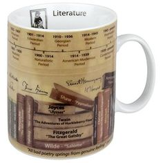 Broaden your horizons on literature from the comfort of your own mug. Simply steep, sip, and study the helpful facts the porcelain Literature Mug…