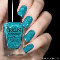 N Lacquer Magic Stone, an aqua blue holo polish with micro holographic glitters and scattered holo flakies. Best Nail Polish, Nail Polish Colors, Fun Lacquer, Nagellack Trends, Holographic Nail Polish, Glitter Nail Polish, Us Nails, Nail Decorations, Stylish Nails