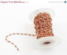 BEST SALE 20 FEETS Copper Rosary Style Beaded Chain  by NIKKIBEAD, $64.00