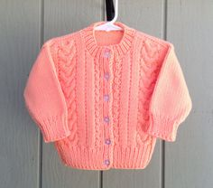 Baby knitted cardigan Kids knit cardiganToddler by LurayKnitwear, $28.50