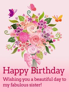 Send Free Pretty Daisy Happy Birthday Wishes Card for Sister to Loved Ones on Birthday & Greeting Cards by Davia. It's free, and you also can use your own customized birthday calendar and birthday reminders. Happy Birthday Qoutes, Birthday Msgs, Happy Birthday Wishes Cards, Happy Birthday Flower, Birthday Blessings, Happy Birthday Images, Birthday Messages, Birthday Greeting Cards, Birthday Humorous