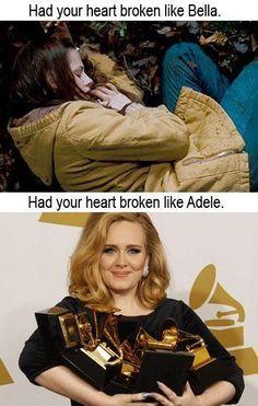 adele vs bella swan - heartbroken | anti-twilight