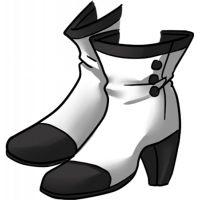 botas brancas e pretas