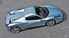 Matte blue   Ferrari 458 Italia Spyder