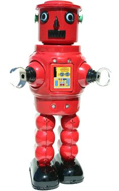 """Features:  -Collectible collection.  Product Type: -Figurine.  Style: -Traditional.  Theme: -Robot.  Finish: -Red; Black.  Age Group: -Adult. Dimensions:  Overall Height - Top to Bottom: -9"""".  Overall"""