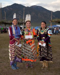 Winners of 2010 Taos Pueblo Pow-Wow. Women's Jingle Dress:  1st place Tunte Eaton (Tesuque/Rosebud Lakota) 2nd place Candace McCabe (Dine) 3rd Place Segi Carter (Eastern Cherokee)