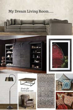 My Dream Living Room - #decorate #design  Love the beautiful items on my dream board for a beautiful living room.
