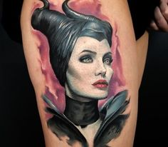 Tattoo of Malificent by Dean Lawton