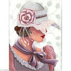 Image 3D Femme - Chapeau dentelle - 30 x 40 cm http://www.creavea.com/image-3d-femme-chapeau-dentelle-30-x-40-cm_boutique-acheter-loisirs-creatifs_59164.html