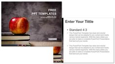 Apple And Book Education PPT Templates 3 photo