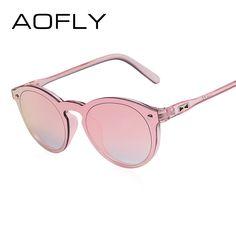 dcb3503d65d AOFLY BRAND DESIGN Women Sunglasses Fashion Men Retro Reflective Mirror Sun  glasses Female Vintage Gafas De Sol Oculos UV400