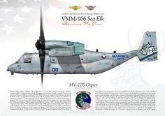 "UNITED STATES MARINE CORPS Marine Medium Tiltrotor Squadron 166 (VMM-166) ""Sea Elk""MCAS Miramar, CA"